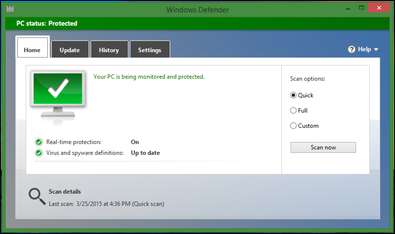 microsoft windows defender for windows 8 win8.1