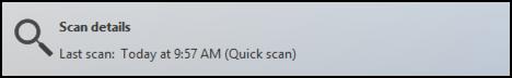 no viruses or malware, windows 8.1 defender