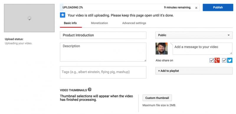 basic youtube video settings