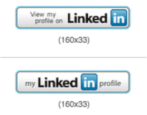 how to create your own linkedin badge button