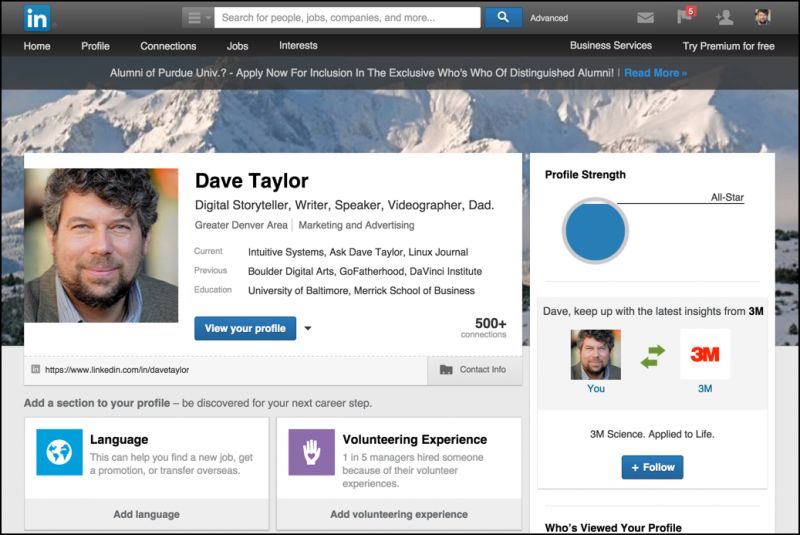 Add A Linkedin View My Profile Badge On My Blog Ask Dave Taylor