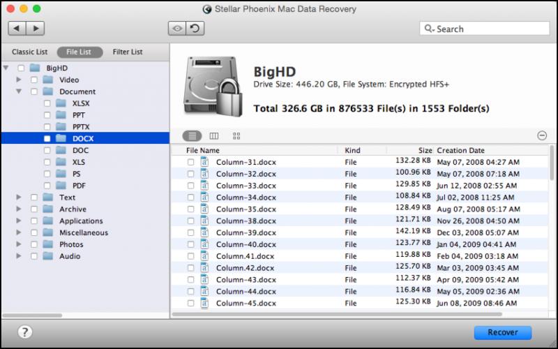 recover xlsx file mac