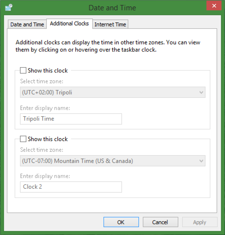 date and time settings control panel preferences microsoft windows 8.1