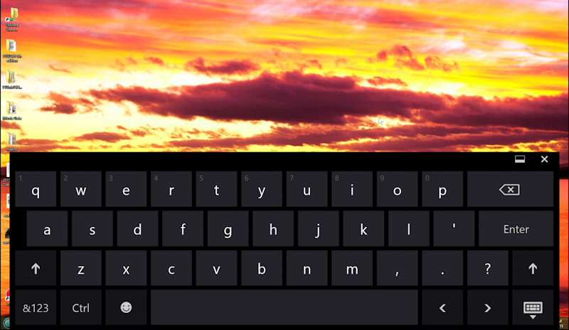 windows 8 on screen keyboard displayed