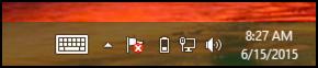 win8 taskbar with keyboard toolbar