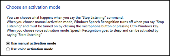 speech recognition win8 always listening? privacy