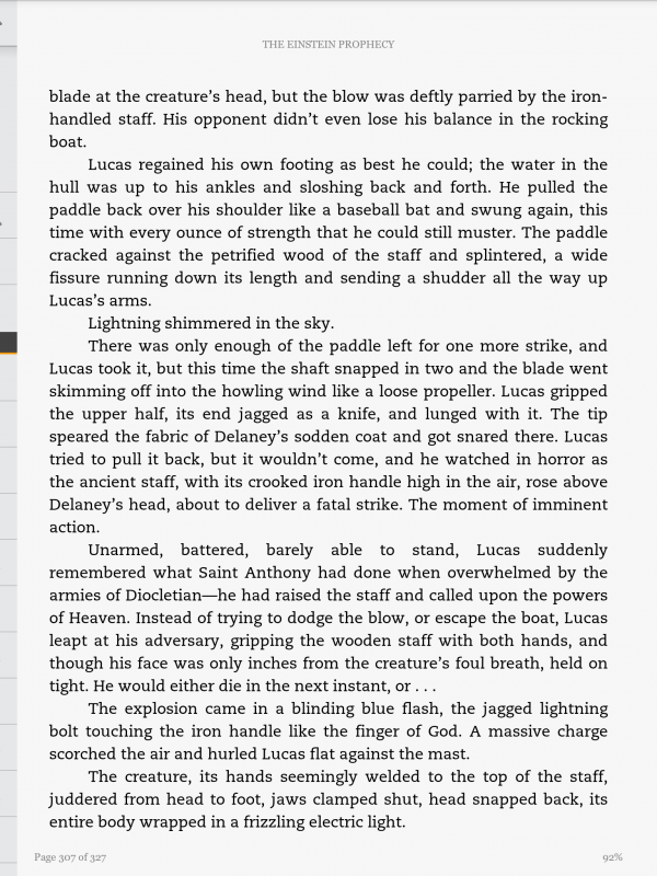 page of text, kindle app, android os