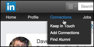 connections menu linkedin