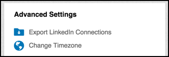 linkedin connection settings