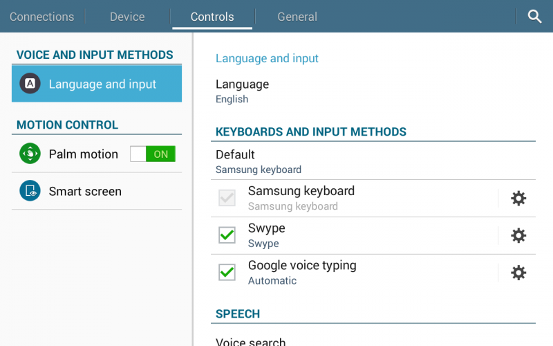 android tablet controls settings preferences tab 4