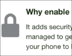 enable turn on 2-step 2-factor two-factor authentication security kickstarter