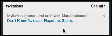 report linkedin link request as spam