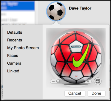 How do I change my Mac user account icon picture? - Ask Dave