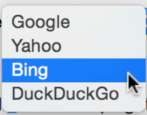 change default search engine apple mac os x safari web browser bing yahoo duckduckgo google