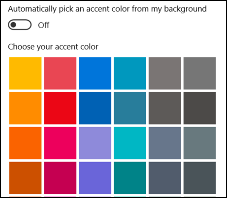 pick a color for your windows 10 win10 start menu taskbar
