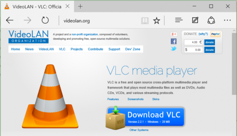 free download vlc video player for windows 10