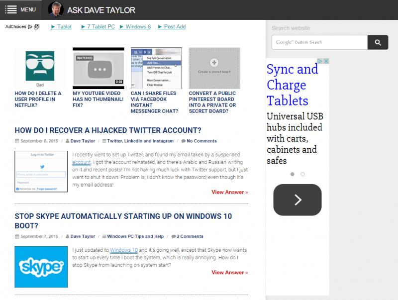 ipad version of adt layout, ezoic