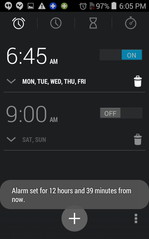repeating alarm enabled, android wake up