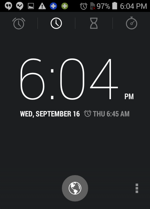 lock screen shows clock alarm time android lollipop