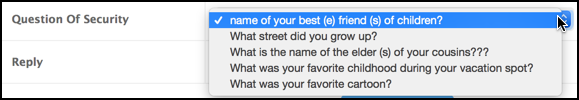 weird security questions