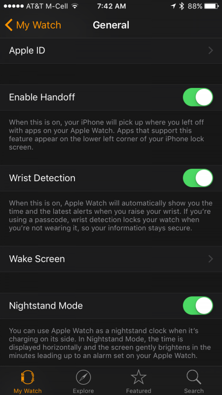 apple watch text size settings in iphone app