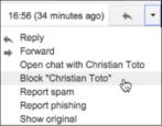 how to filter block email messages sender stalker harassment google mail gmail