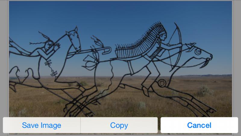 save photo image web page browser safari ios iphone