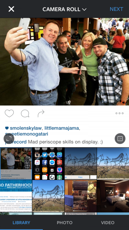 pick photo from album gallery instagram