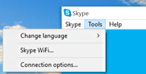 Skype > Tools > Connection options...
