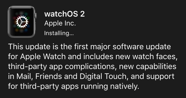 installing watchos 2.0