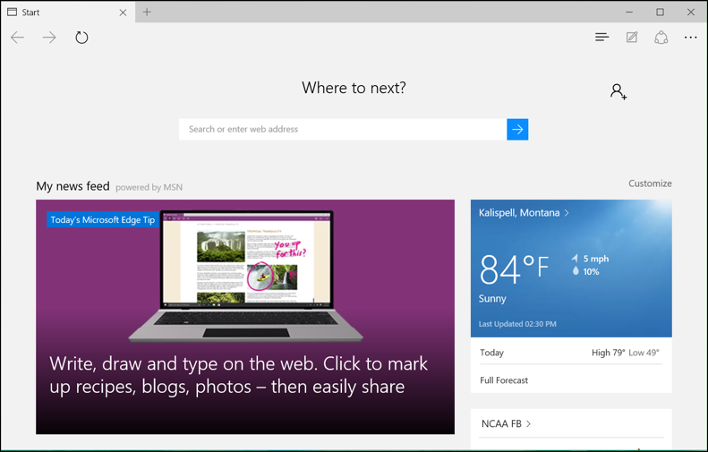 win10 microsoft edge browser