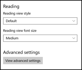 change font size windows edge browser