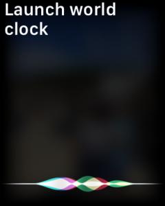 launch world clock apple watch siri