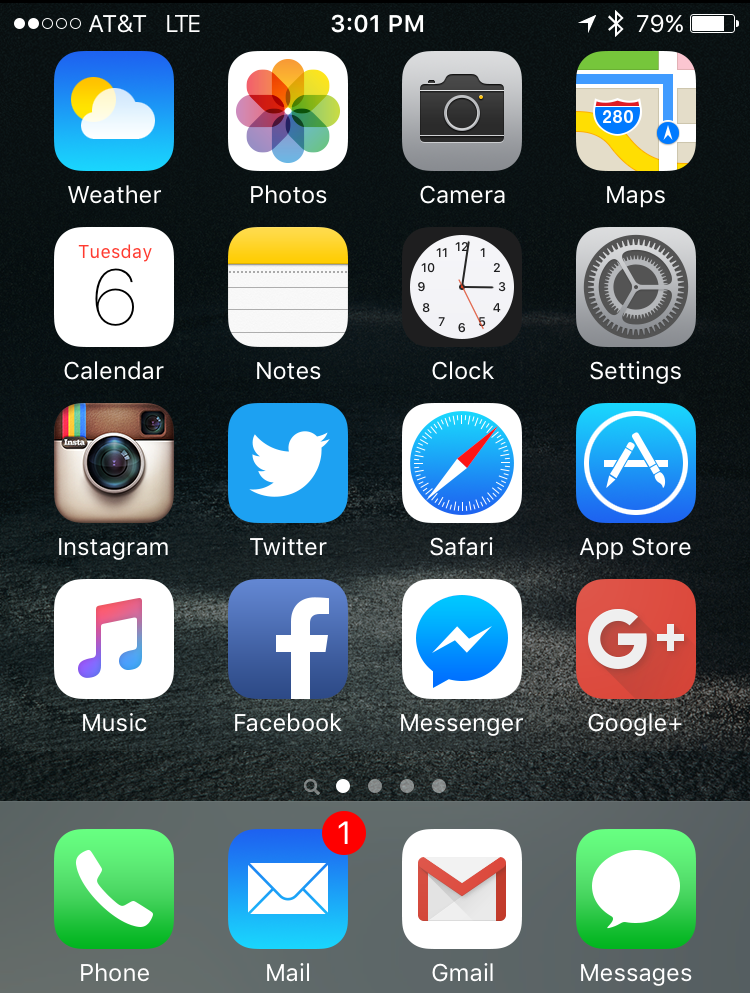 look for clock app icon apple iphone ios 9 ios9