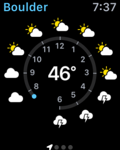 boulder weather, apple watch sport edition app