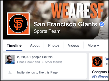 how many fans do the sf giants have on facebook?
