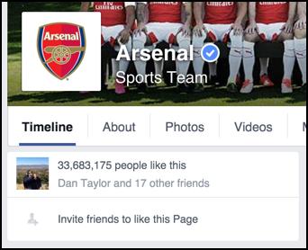 friends like arsenal football club soccer facebook