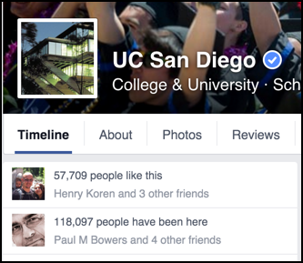 fans of ucsd on facebook