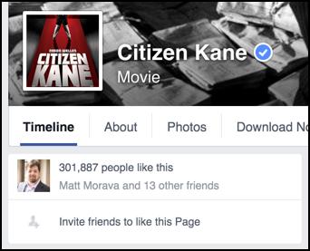 fans of movie citizen kane on facebook