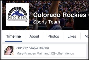 colorado rockies fans on facebook