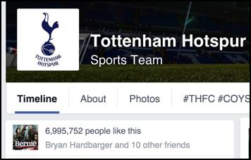 tottenham hotspur spurs fans on facebook