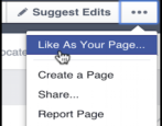 how to like a facebook fan business organization page as a facebook business page