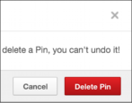 how to delete a photo photograph image picture pin off pinterest pinboard board