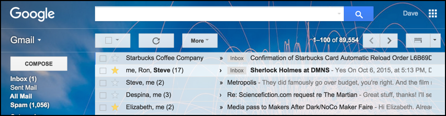 """Search Gmail for """"starred"""" email messages?"""