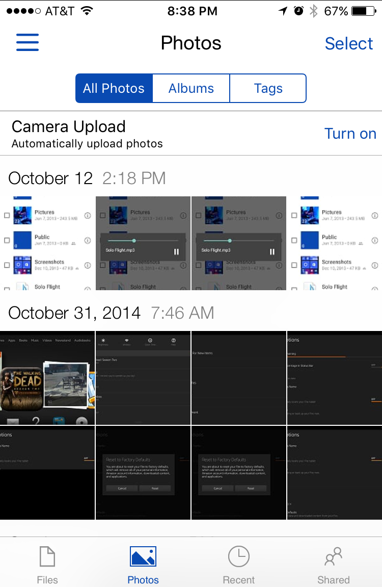 set up photo sync in onedrive iPhone ios?