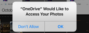 onedrive access photos