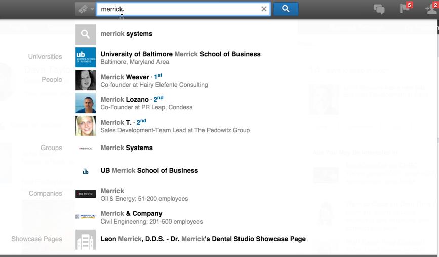 university college search linkedin merrick school of business mba