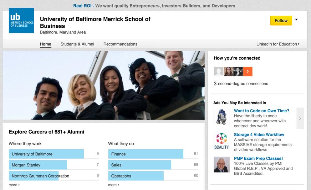 merrick school of business mba university of baltimore linkedin page
