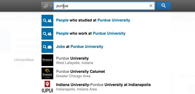 linkedin search purdue university