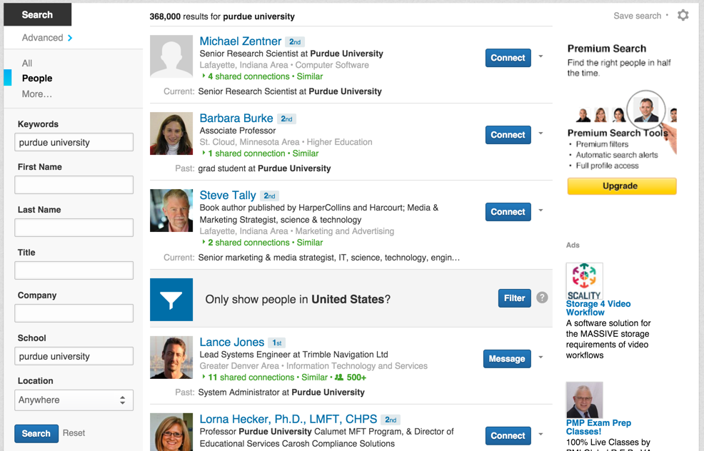 people on linkedin who studied at purdue university